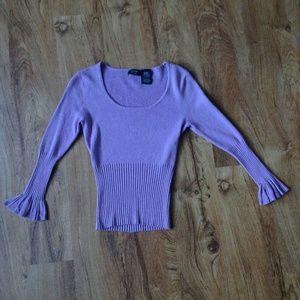 Lavender ribbed top